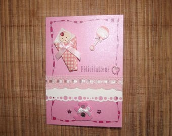 """Congratulations"" card for daughter, handmade."