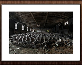 Abandoned Hospital Photography Print Fine Art Wall Art Gift - Decaying Theater - Urbex Urban Exploration