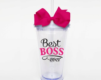 Best Boss Ever- Acrylic Tumbler Personalized Cup