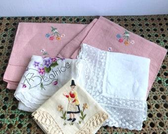 Vintage handkerchief collection