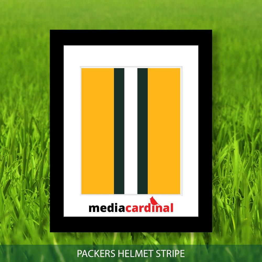 Green Bay Packers Green Bay Packers Helmet Stripe art yellow
