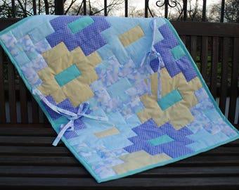 Car Seat Quilt, Pram Quilt, Stroller Quilt, Travel Quilt, Baby Quilt, Patchwork Quilt, Baby Patchwork Quilt,  Play Mat