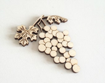Charming laser cut wood GRAPE / Grapes / Grape charms / Grape decor / Best selling items / Most popular item / Laser cut wood /Wood ornament