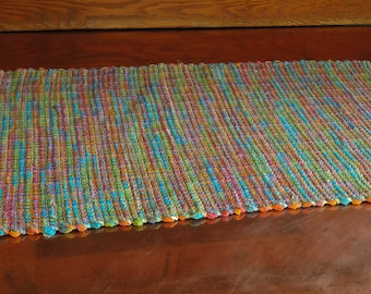 "Hand Woven Table Runner Bright Spring 14"" x 30"""