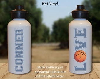 Basketball Gift, Basketball Water Bottle, Basketball Team, Team Gift, Personalized Water Bottle, Sports Water Bottle, Water Bottle