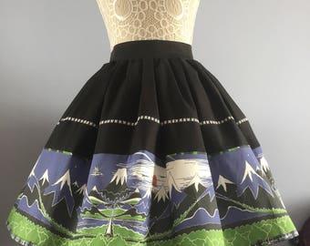 Ladies or girls The Hobbit book cover inspired full skater style skirt