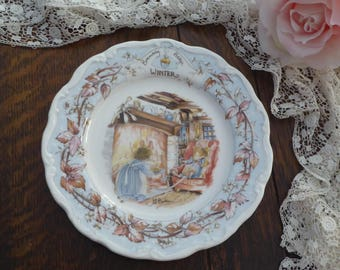 Vintage Royal Doulton Brambly Hedge Winter PLATE 1982, Brambly Hedge Winter Plate, Jill Barklem Brambly Hedge Gift Collection