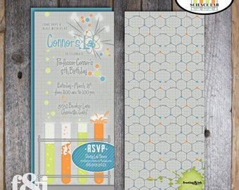 Science Party Invitation | Science Birthday Invitation | Science Invitation | Science Experiment Invitation | Mad Science Party | Printable