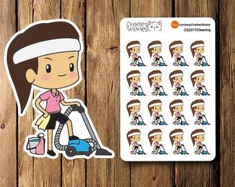 Mini Cleaning Planner Stickers, Erin Condren, Planner Book Stickers