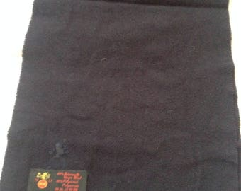 "Vintage ""MM"" Black Scarf Virgin Wool Blend 