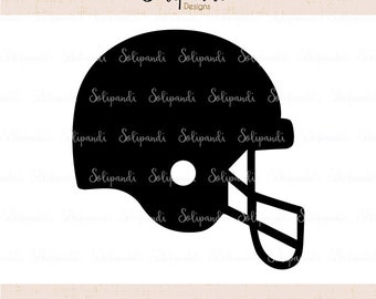 American Football Helmet - SVG and DXF Cut Files - for Cricut, Silhouette, Die Cut Machines // scrapbooking // paper crafts// #249