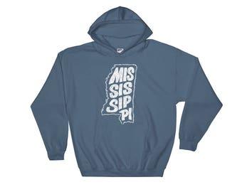 Mississippi, State of Mississippi Hooded Sweatshirt, Hoodie