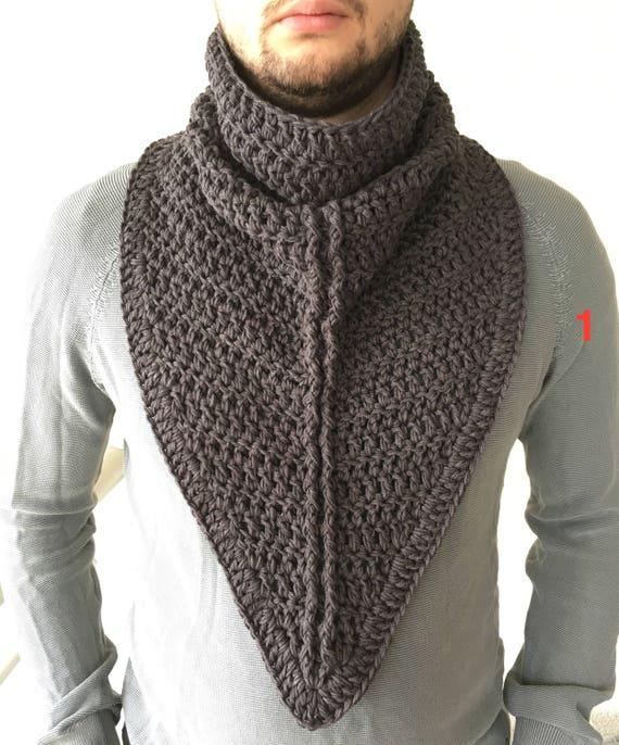Bufanda del ganchillo / bufanda del ganchillo para hombre /