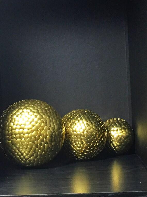 Gold decorative ball vase filler crinkle