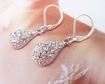 wedding earrings, wedding jewelry, crystal earrings, statement earrings, swarovski earrings, bridesmaid earrings, rhinestone earrings