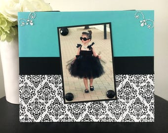 Breakfast at Tiffany's - Magnetic Picture Frame Handmade Gift Present Home Decor by Frame A Memory Size 9 x 11 Holds 5 x 7 Photo