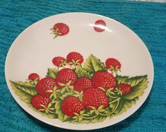 Raspberries Fine China Plate by Genges Briard