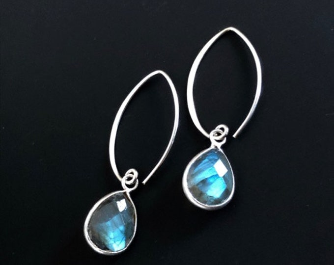 Featured listing image: Labradorite Gemstone Dangle Earrings