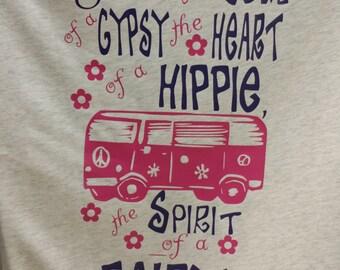 Gypsy Shirt Hippie Shirt Gypsy Raglan