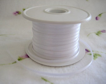 "1/8"" White Satin Ribbon for Crafting, Tags, Baby Shower, Party Favors, Hair Accessories, 10 yards"