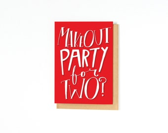 Funny Love Card - Long Distance Relationship Card - Anniversary - Make Out Party - I Love You Card - Funny Card - Love Card - I Miss You