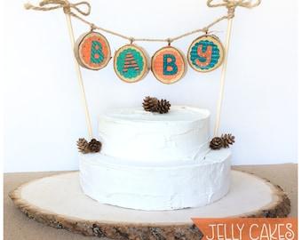 Bunting Cake Topper,Baby Bunting Banner,Rustic Cake Topper,Baby Shower Cake Topper, Baby Shower Decor,Babys 1st Birthday,Birthday Decor