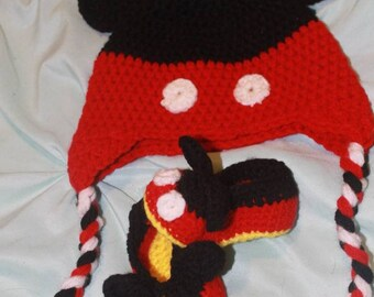 Crocheted Mickey Mouse Set