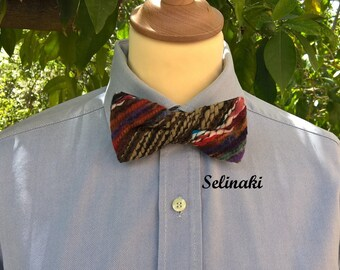 Knit Bow Tie Red