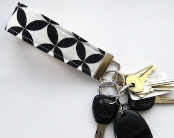 Black and White Key Fob
