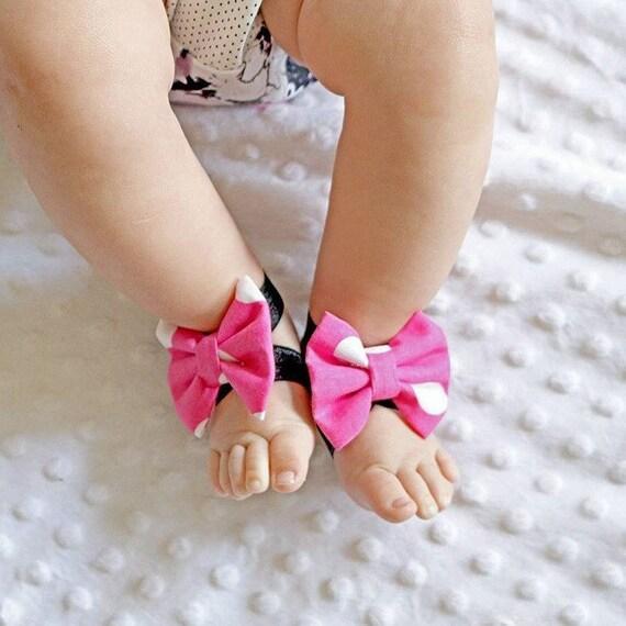 Baby Girl 1?coppia di piedi nudi sandali stretch decorazione (2?�C?12?mesi) 0rhbwQYr