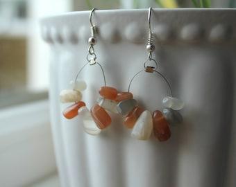 Moonstone Gem Earrings