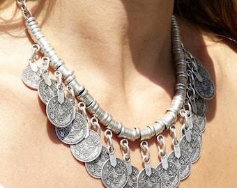 Babylon silver necklace / / / Gypsy / Boho style