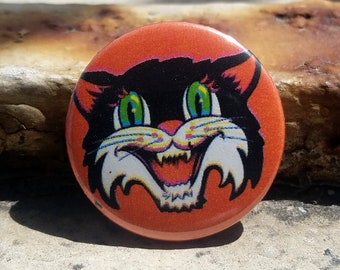 Vintage Halloween Cat 1 inch Button