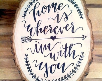 Wood Slice Wall Art // Custom Wall Art // Home Decor //