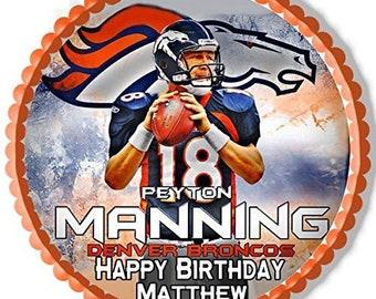 Peyton Manning edible image
