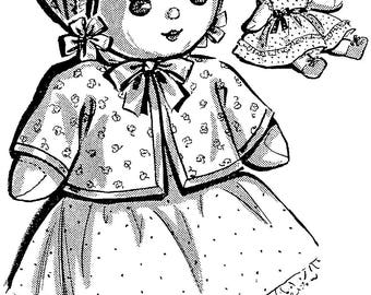 1960s vintage simplicity sewing pattern 4727 14 inch baby doll Vintage Dolls From 1970 vintage 11 inch baby cloth doll and clothes pattern pdf instant download epattern