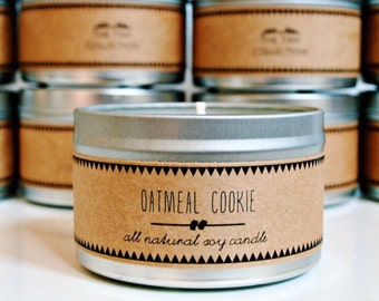 OATMEAL COOKIE Soy Candle. Natural Candle. Scented Candle. Eco Friendly. Vegan Friendly. Fall Candle. Gift for Her.