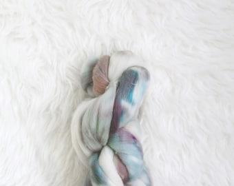 mountain mist - fluff merino top - luxurious soft merino wool roving