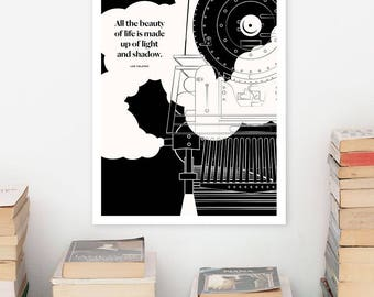 LEO TOLSTOY Large Literary Art Poster, Quote Literary Art Prints, Minimalist Illustration, Large Wall Art Quote Prints, Literary Gift