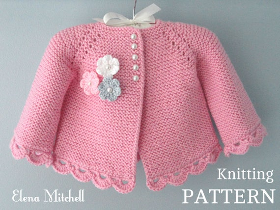 Knitting pattern baby jacket baby cardigan garter stitch knit knitting pattern baby jacket baby cardigan garter stitch knit pattern baby girl jacket newborn girl coat knitting cardigan baby pattern dt1010fo