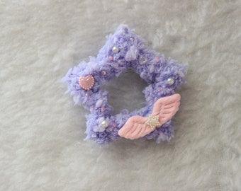 Fuzzy Purple Fairy Kei Hair Clip