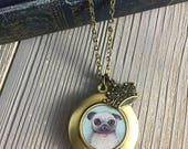 Pug Locket - William the ...