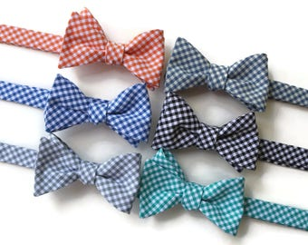 Bow Tie~Gingham Bow Tie~Mens Self Tie Bow Tie~Cotton Tie~Mens Bow Tie~Preppy Gift~Groom~Groomsmen~Anniversarry Gift~Cotton Tie~