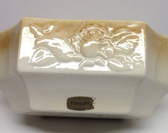Haeger Planter gold and white fruit motif