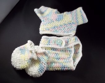 4 Piece  Set For 20 inch Lil' Baby Doll - Multi Pastel