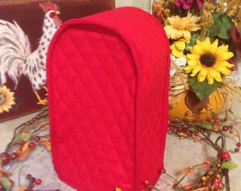 Red Can Opener Covers Kitchen Small Appliance Cover Quilted Fabric Made To Order