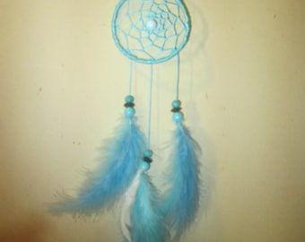 Dream catcher turquoise satin