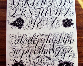 """Typography, Type Specimen, by Christian Cantiello 15 x 20"""""""