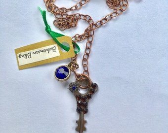 Vintage Key Necklace, Upcycled Key, Key Necklace, Key Pendant