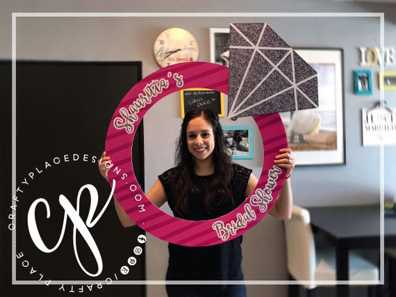 Bridal Shower Photo Booth Frame Engagement Ring Photo Booth